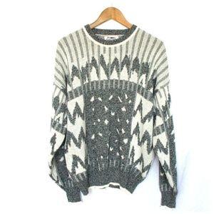 Vintage Expressions Tribal Print Grandpa Sweater